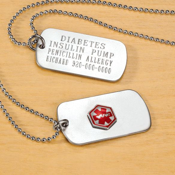 Personalized medical alert dog tag medical dog tags miles kimball