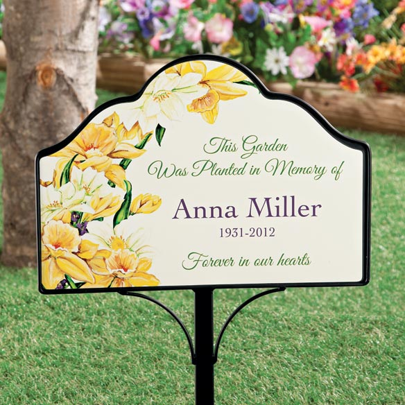 Personalized garden memorial magnetic sign for Outdoor decorative signs