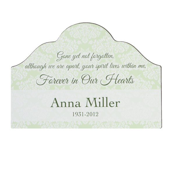 Personalized Forever In Our Hearts Memorial Magnetic Yard Sign