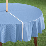 Patio & Grill - Patio Table Cover With Zipper - Stripe Design