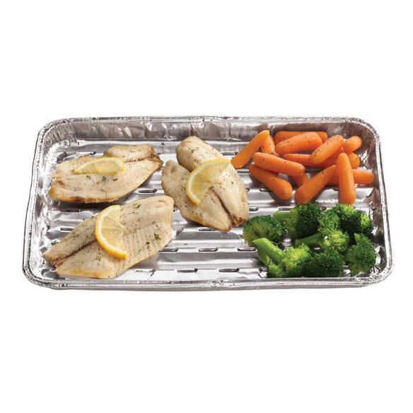 3-Pack Foil Grilling Trays