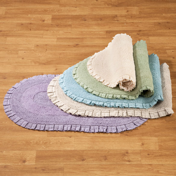 Ruffled Cotton Rug