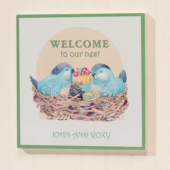 Personalized 8x8 Family Nest Wood Wall Plaque