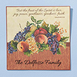 Home Décor - Personalized 12x12 Family Faith Metal Wall Plaque