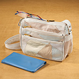 Handbags, Wallets & Travel - Cream Patch Leather Handbag