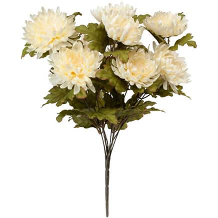 Artificial flowers miles kimball mum bush by oakridge outdoor 345780 mightylinksfo