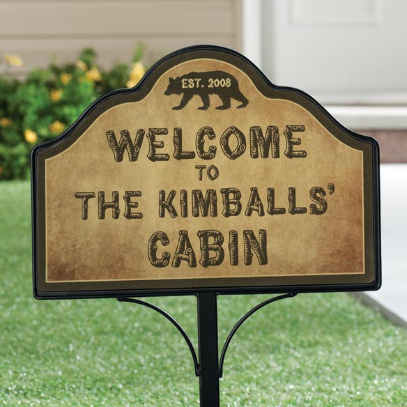 Personalized Cabin Magnetic Yard Sign