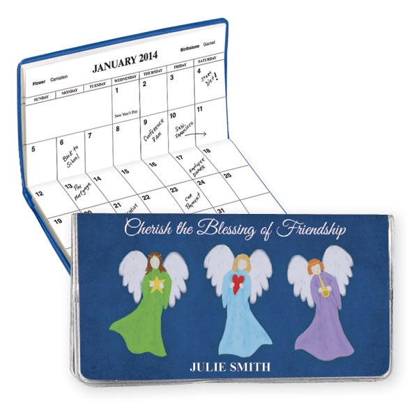 Personalized 2 Year Planner Angel Friendship