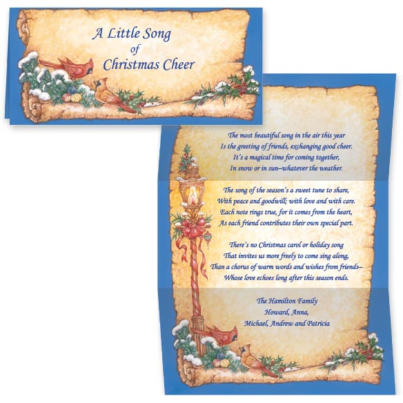 Cardinal Christmas Carol Christmas Card Set of 20