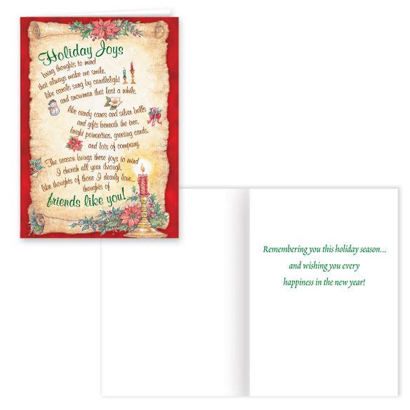 Holiday Joys Christmas Card Set of 20