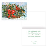 Nature Inspired - Cardinal Basket Christmas Card Set of 20