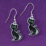 View All Jewelry & Keychains - Black Cat Earrings