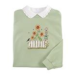 Everyday Sweatshirts - Fall Sunflowers and Fence Sweatshirt