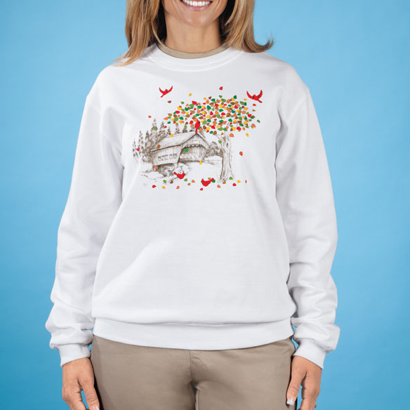 Cardinal Foliage Sweatshirt - View 1