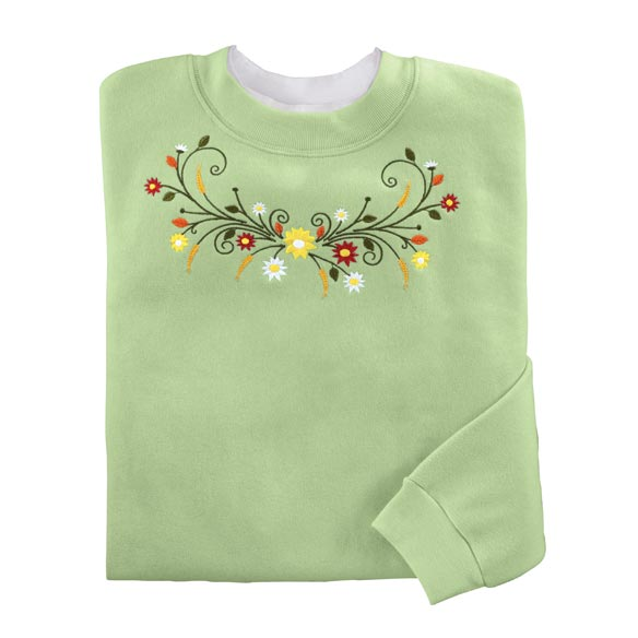 Floral Filigree Sweatshirt
