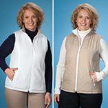 Everyday Sweatshirts - Reversible Quilted Zip Front Vest