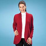 Everyday Sweatshirts - Cable Cardigan Sweater