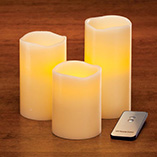 Home Décor - LED Flicker Candles - Set Of 3
