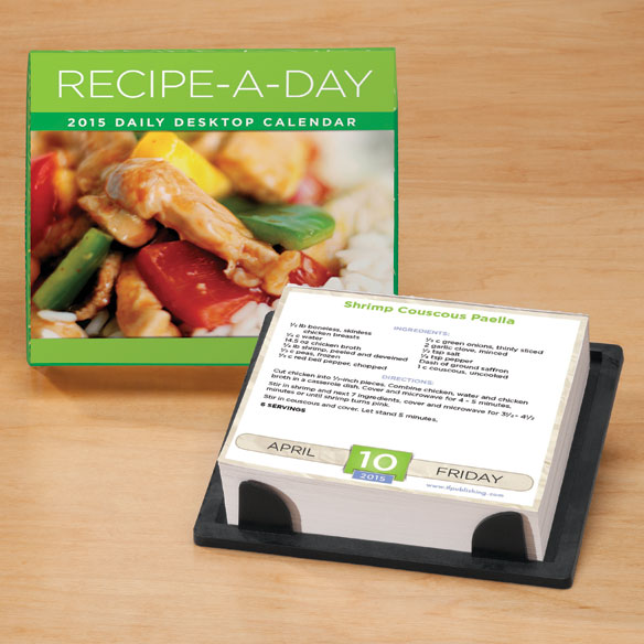 Recipe-A-Day Desk Calendar