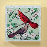 Home Décor - 8x8 Cardinals Wood Wall Plaque