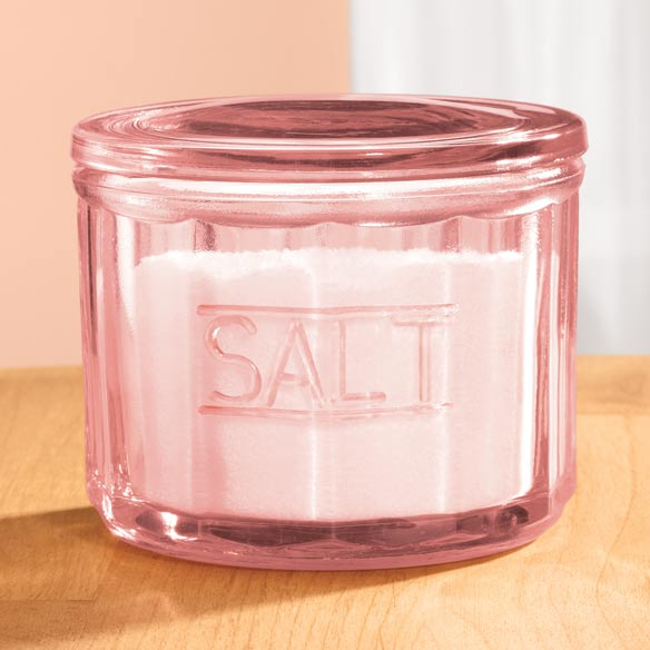 Pink Glass Salt Cellar