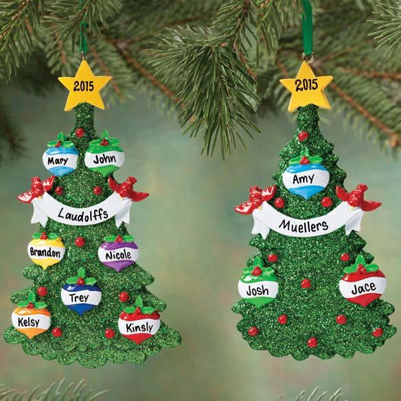 Personalized Glitter Tree Ornament