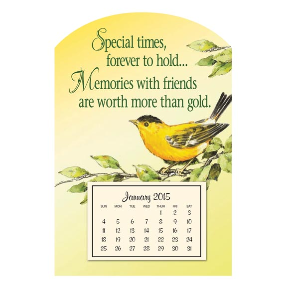 Mini Magnetic Finch Calendar