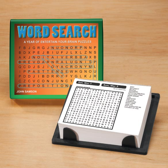 Word Search 365 Day Calendar