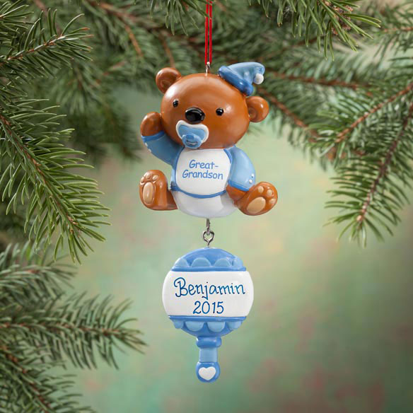 Personalized Great Grandson Bear Ornament