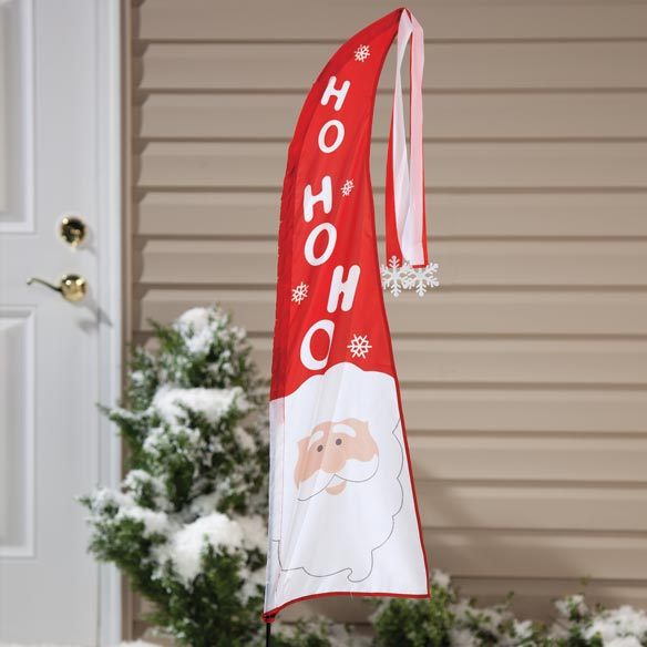 Santa Holiday Sail Flag