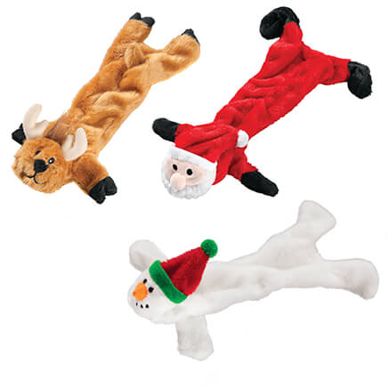 stuffing free christmas dog toys set of 3 346235