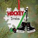 Sports - Personalized Hockey Ornament