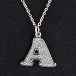 View All Jewelry & Keychains - Glitter Initial Necklace
