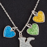 View All Jewelry & Keychains - Birthstone Glitter Heart Charm