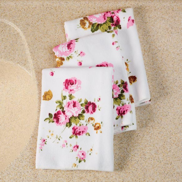 Microfiber Rose Towel Set of 3