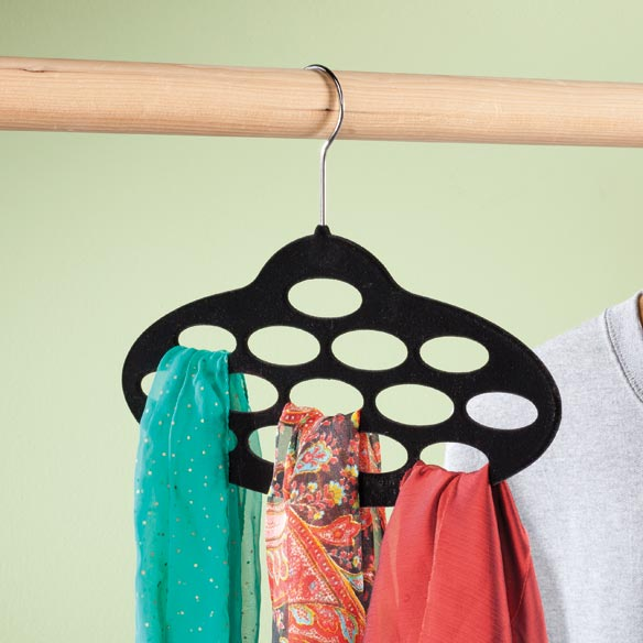 flocked scarf hanger laundry sewing home office