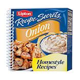 Cookbooks - Lipton Onion Soup Shaped Cookbook