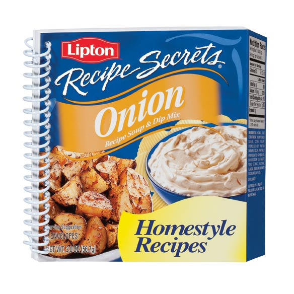 Lipton Onion Soup Shaped Cookbook