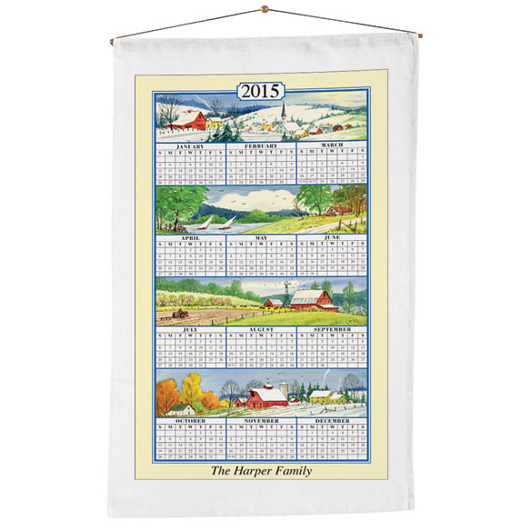 Personalized Four Seasons Calendar Towel