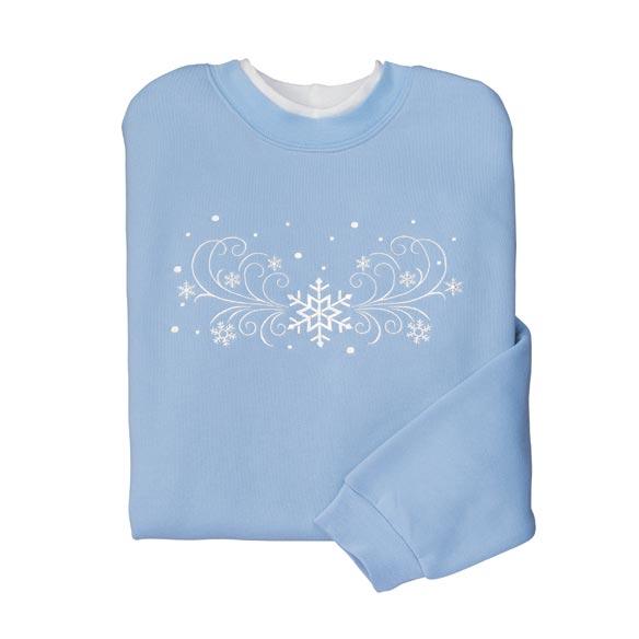 Blustery Snowflakes Sweatshirt