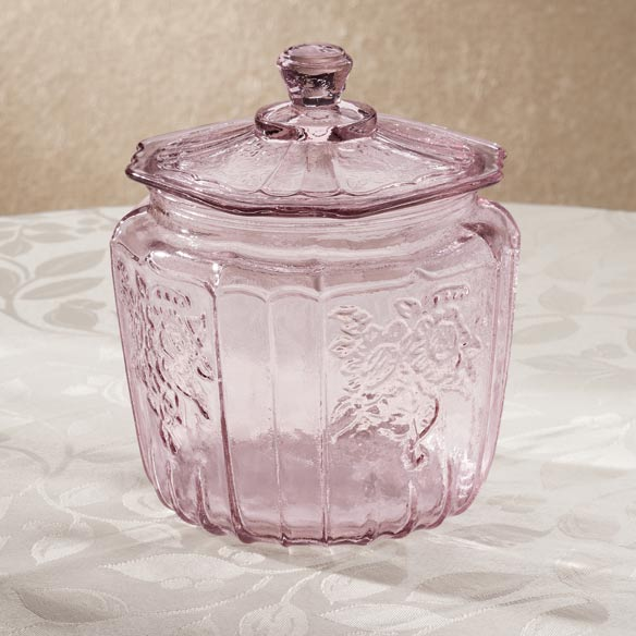 Lavender Glass Biscuit Jar