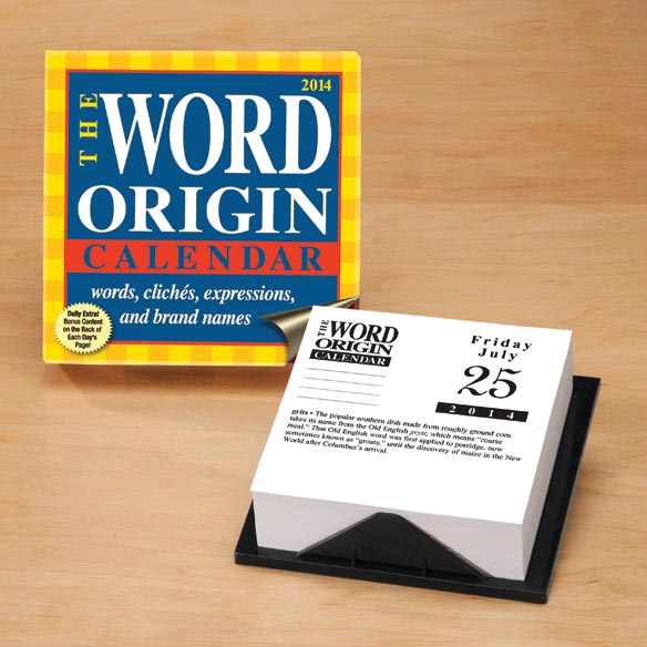 Word Origin 365 Day Calendar