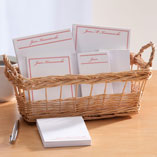 Home Office - Personalized Classic Basketful of Notepads