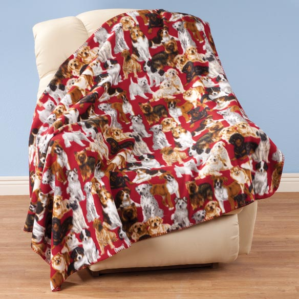 Puppies Fleece Blanket