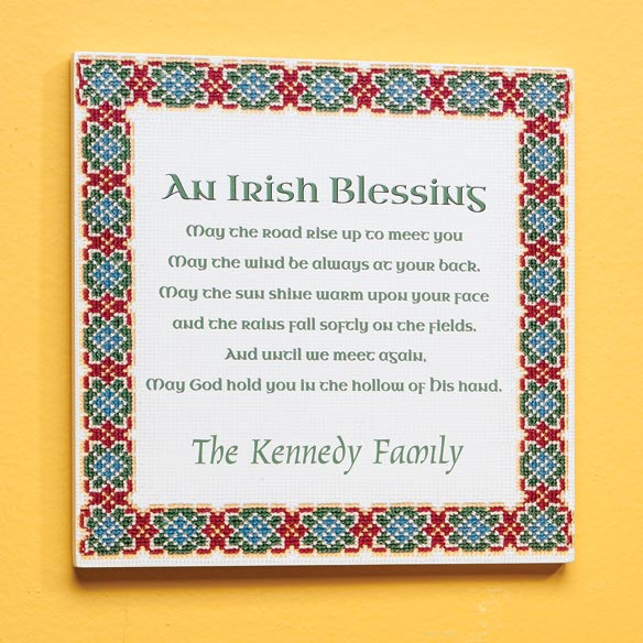 Personalized 8x8 Irish Family Blessing Wood Wall Plaque