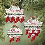 Ornaments - Personalized Christmas Mantel Stocking Ornaments
