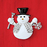 Accessories - Snowman Brooch