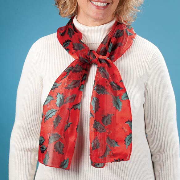 Holiday Holly Scarf