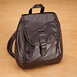Apparel & Jewelry - Chocolate Patch Leather Backpack