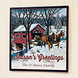 Home - Personalized Covered Bridge Metal Plaque 12x12